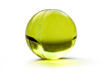 Pillola verde Immagini Stock