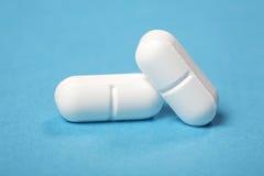 Pillole bianche Fotografie Stock Libere da Diritti