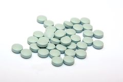 Pillole blu Fotografie Stock