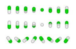 Pillole blu e bianche della capsula illustrazione vettoriale