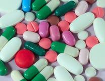 Pillole & capsule della medicina Fotografia Stock
