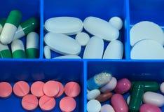 Pillole & capsule della medicina Fotografie Stock
