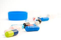 Pillole colorate Immagini Stock Libere da Diritti