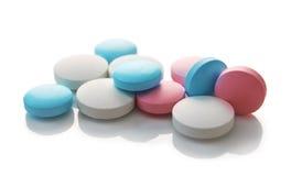 Pillole colorate mediche Fotografia Stock Libera da Diritti