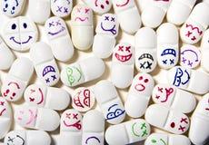 Pillole del fronte di smiley Fotografia Stock Libera da Diritti