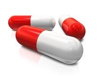 Pillole della capsula Fotografia Stock Libera da Diritti