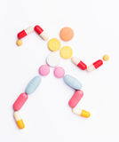 Pillole della vitamina Fotografia Stock Libera da Diritti