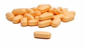 Pillole delle vitamine fotografia stock libera da diritti