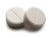 Pillole di Aspirin Immagine Stock