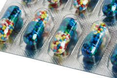 Pillole di colore Fotografie Stock