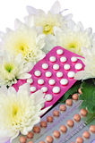 Pillole di contraccettivo orale. Fotografie Stock