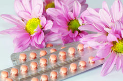 Pillole di Contraceftive. Immagine Stock