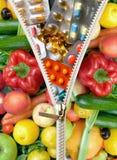 Pillole di dieta Immagine Stock