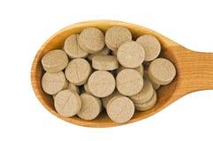 Pillole di erbe Fotografia Stock
