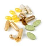 Pillole di erbe di supplemento Immagini Stock Libere da Diritti