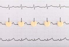 Pillole di forma del cuore fotografia stock libera da diritti