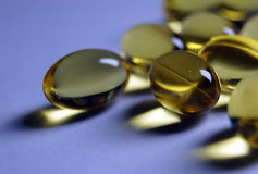 Pillole di Omega Immagini Stock