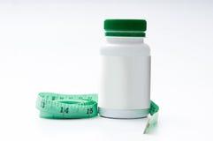 Pillole di perdita di peso Fotografia Stock