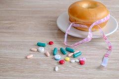 Pillole di perdita di peso fotografie stock