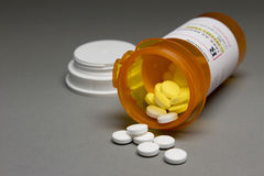 Pillole di prescrizione, orizzontale Immagine Stock