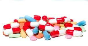 Pillole differenti Fotografie Stock Libere da Diritti