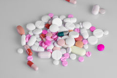 Pillole differenti delle compresse Fotografia Stock