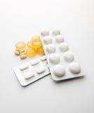 Pillole e capsule Fotografia Stock