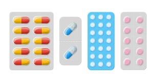 Pillole e capsule di vettore Fotografia Stock Libera da Diritti