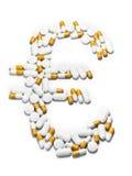 Pillole euro fotografie stock