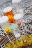 Pillole giornalieri Fotografia Stock