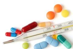 Pillole isolate immagine stock