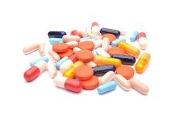 Pillole isolate Immagine Stock Libera da Diritti