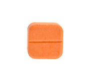 Pillole isolate su priorità bassa bianca Fotografie Stock Libere da Diritti