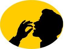 Pillole mangiarici di uomini Fotografia Stock Libera da Diritti