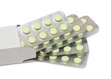 Pillole nella casella fotografia stock libera da diritti