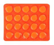 Pillole in pacchetto arancione Fotografia Stock