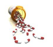 Pillole per medicina Immagine Stock
