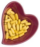 Pillole per salute del cuore Fotografia Stock Libera da Diritti
