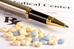 Pillole prescritte Fotografia Stock Libera da Diritti