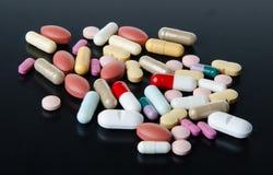 Pillole, ridurre in pani e capsule Fotografia Stock