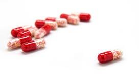 Pillole rosse  Immagini Stock Libere da Diritti