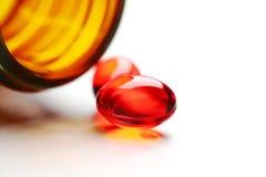 Pillole rosse Fotografia Stock Libera da Diritti