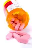 Pillole rovesciate fotografia stock