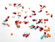 Pillole sparse Fotografia Stock Libera da Diritti