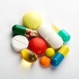 Pillole variopinte Fotografia Stock