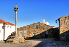 Pillory in historical village of Castelo Mendo Stock Image