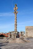 The Pillory placed in the Cathedral Square aka Terreiro da Se Royalty Free Stock Photos