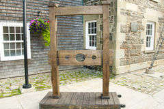 Pillory Torture Device Stock Photo