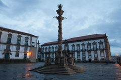 Pillory Twisted Column in Porto Royalty Free Stock Photography