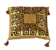 Pillow. Decorative pillow isolated on white. Clipping path Royalty Free Stock Images